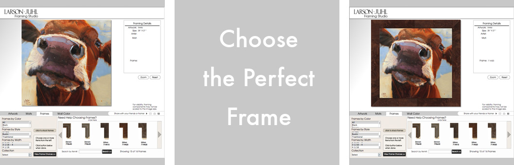 Virtual Picture Framing for Individuals - Interior Decorating - The FrameWorks
